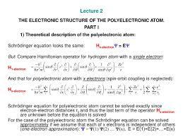 schrodinger equation for hydrogen atom ppt tessshlo