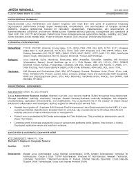 Linux System Administrator Resume Doc