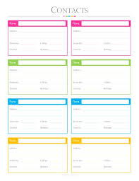 Contacts List Pdf Planner Contact List Checklist List To Etsy