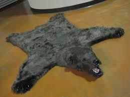 Faux Bearskin Rug Rugs Faux White Fur Rug Faux Animal Rug Faux Bear Skin Rug