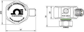 pt temperature transmitter txm12 transmitter dimensions