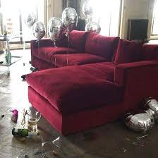 red velvet sofa. Red Velvet Sofas Trend Dark Sofa About Remodel Office Ideas With .