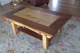 walnut and alder coffee table