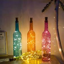 glass wine bottle lamp with 2m 20led copper wire string lights cork shaped bottle stopper light party wedding home decor gift dbc dh0944 uk 2019 from besgo