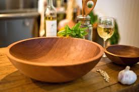 wood salad bowl wooden with stand antique crate and barrel wood salad bowl care with stand set