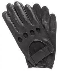 men s leather driving gloves with adjustable strap