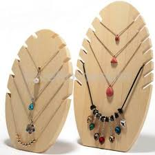 natural wooden tree jewellery display holder necklaces pendant stand showcase