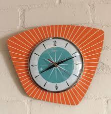 1950s style midcentury modern clocks by