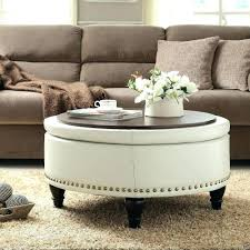 shabby chic round coffee table ideas decor appealing white leather ottoman uk