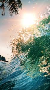 Ocean Waves Sun 4K Ultra HD Mobile ...