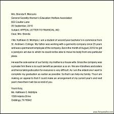 Writing An Appeal Letter Awesome Financial Aid Appeal Letter Template TemplateZet
