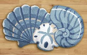 sea shell bath rugs nice seashell rug with nautical area free market kids anchor shaped