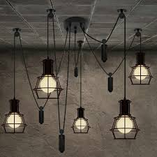 sofa graceful edison dining room lights 14 5 heads chandelier spider loft vintage industrial light lamps