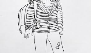 Small Picture Best American Girl Coloring Pages Contemporary Coloring Page