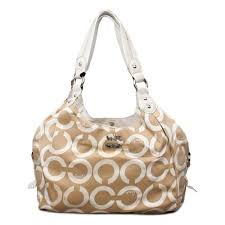 Coach Legacy Logo Signature Medium Apricot Hobo ENQ