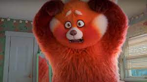 into giant red panda ...