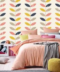 retro flower wallpaper pattern colorful
