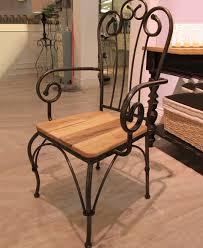 wrought iron and wood furniture. AmericanVillagevintagewroughtironwooddiningchairs Wrought Iron And Wood Furniture