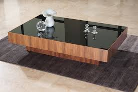 black coffee table modern