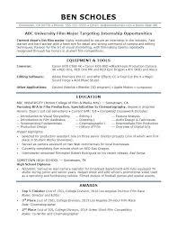 Resume For Internship No Experience Sample Resume Internship Socialum Co