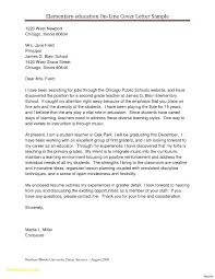 Elementary Education Cover Letters Perfect Resume
