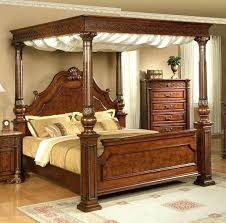 wooden canopy bed frame – room11.co