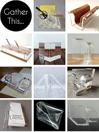 gather this vintage lucite desk accessories