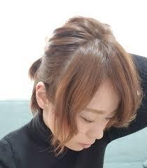 エラ張りベース型さん向けの小顔効果のある髪型 原宿