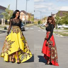 African Skirts Patterns Delectable New Arrival Yellow Red Flower Print Long Skirts Patterns Bohemia