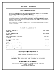 Resume Template Two Page Format Example Chronological With Sample