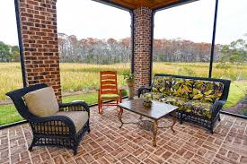 Covered porch furniture Backyard Pool Porchfurniture Joss Main Screen Tight Screen Porch Systems Screen Doors