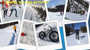 winter outdoor activities. Fine Winter Winter Outdoor Activities  A Collage Inside