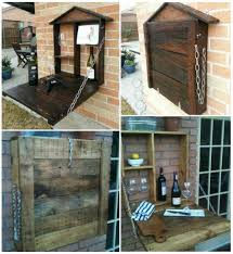easy diy furniture ideas. VIEW IN GALLERY Pallet-Fold-Down-Wine-bar-wonderfuldiy Easy Diy Furniture Ideas V
