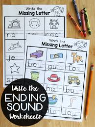 Write the Ending Sounds Worksheets - This Reading Mama