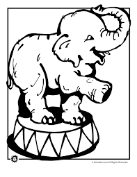Circus Elephant Coloring Pages Printable 129 Circus Elephant