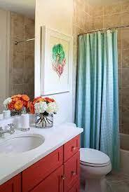 Coral And Turquoise Bathroom Decor Elegant Kids Bathroom With Turquoise Gingham Shower Curtai Turquoise Bathroom Decor Blue Bathroom Decor Green Bathroom Decor