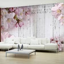 Vlies Tapete Top Fototapete Wandbilder Xxl 350x256 Cm Holz Bretter Blumen B A 0202 A B