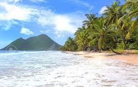The Caribbean Beach , Martinique Island ...