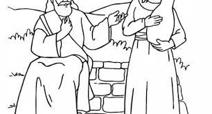 Small Picture bible story woman at the well coloring pages Archives Cool