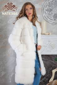 blue fox fur coat jacket vest convertible
