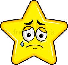 Teared Up Sad Star Emoji