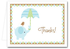 Baby Card Notes Note Cards Blue Elephant Shower