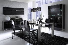 black wood rectangular dining table. White Rectangle Dining Table Glass Top Wood Rectangular Five Small Hanging Lamp Classic Silver Candle Holder Gray Wall Paint Modern Black