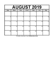 Printable Blank Calendar 2019 2020 Free Lifetime Updates English