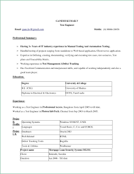 Plug In Resume Templates Simple Resume Format Download In Ms Word