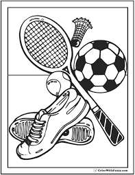 Create your own coloring book for kids of all ages. 121 Sports Coloring Sheets Customize And Print Pdf