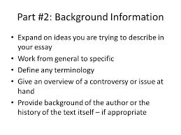 paragraph essay ppt video online part 2 background information