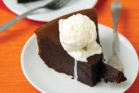 chocolate cake with vanilla ice cream. Perfect Cake Dark Chocolate Dreams Flourless Cake Served Warm With Vanilla Ice Cream In With I