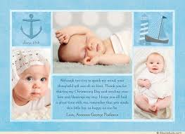 Baby Boy Thank You Cards Baptism Multi Photo Collage Thank You Card Personalized Photos