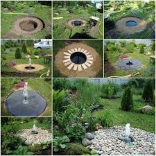 garden art projects. Buried Garden Fountain Praktic Ideas Art Projects
